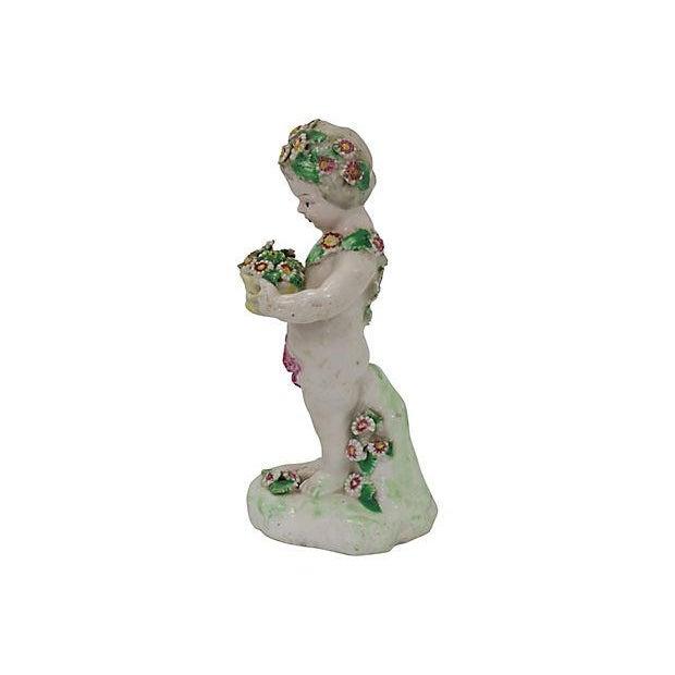 English 18th-C Derby Porcelain Cherub - C. 1790 For Sale - Image 3 of 6