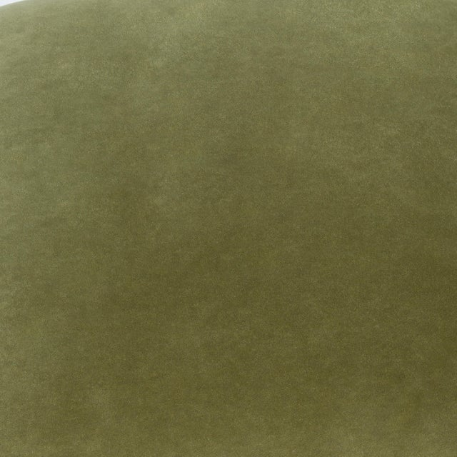 Casa Cosima Milan Ottoman in Olive Velvet, a Pair For Sale In Los Angeles - Image 6 of 7