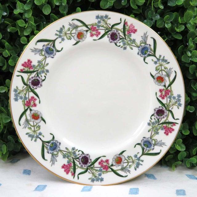 """Mismatched Vintage 8"""" Dessert Plates - Set of 4 - Image 5 of 7"""