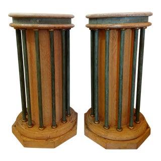 Vintage Memphis Style Pedestals - A Pair