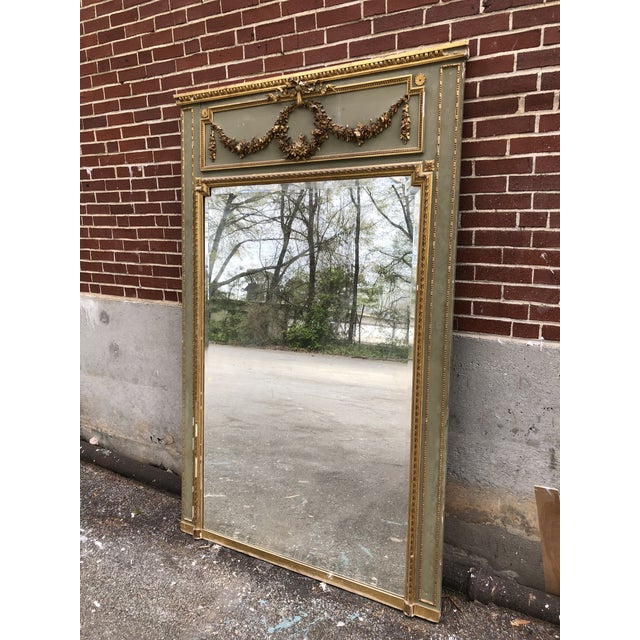 18th C. French Louis XV Trumeau Mirror For Sale - Image 9 of 9