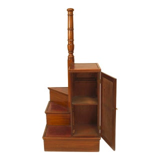 English Regency Mahogany Library Ladder For Sale