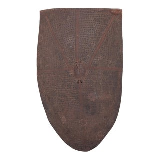 Nigerian Mofu Patterned Metal Shield For Sale