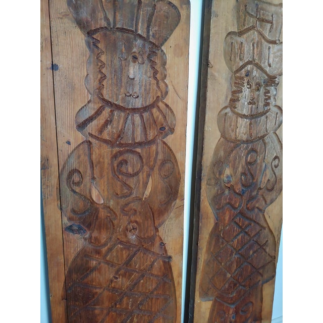 Vintage Scandinavian Royalty Hand Carved Wood Molds - a Pair For Sale - Image 4 of 10