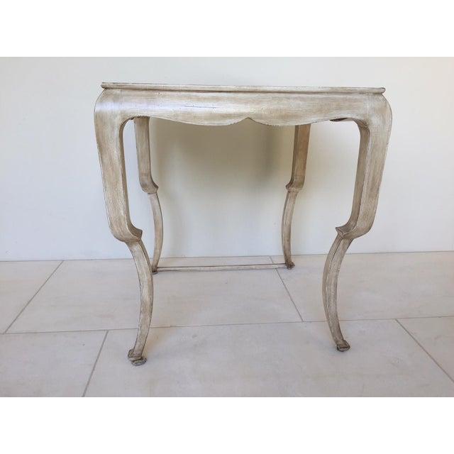 Beige Nancy Corzine Wood Side Table For Sale - Image 5 of 5