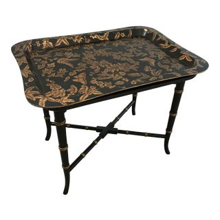 Asian Inspired Butterfly Tray Table