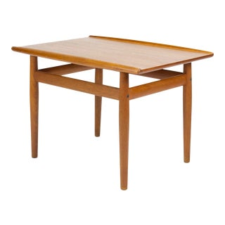 1950s Danish Modern Grete Jalk Teak Side Table For Sale