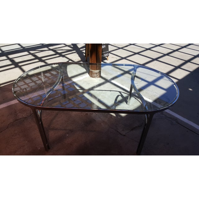 Vintage Polished Chrome Dining Table - Image 3 of 8