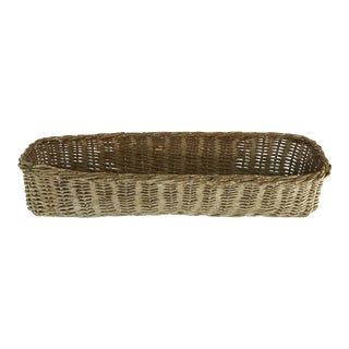 Antique French Wicker Bread Basket For Sale