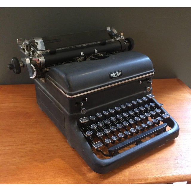 1930s typewriter by Royal. Very solid, and in excellent condition. Works well, though it could probably use a new ribbon.
