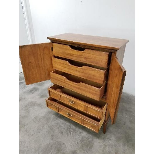 """Stunning! Beauty for your place! Hard to find a decent highboy nowadays! Made by Dixie! It measures 51"""" high, 19"""" depth,..."""