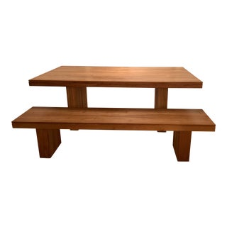 Kayu Teak Dining Table and Bench For Sale
