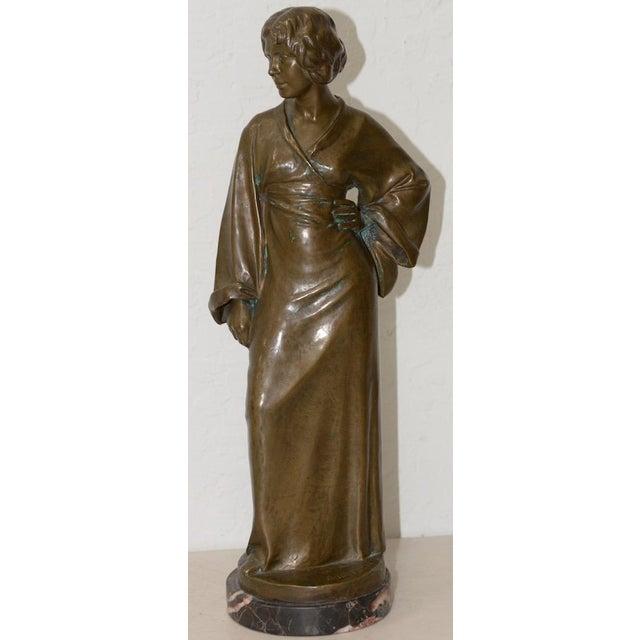 Arnold Katsch (German 1861-1928) Art Nouveau Bronze C.1912 For Sale - Image 9 of 9