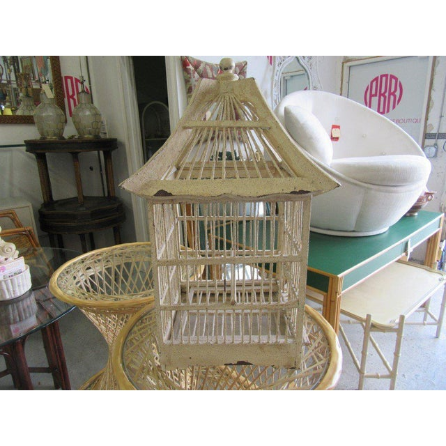 Vintage Painted Bird Cage - Image 5 of 7
