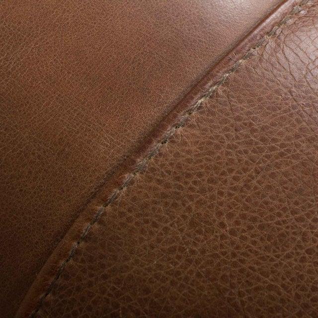 Brown Mid-Century Baxter Buffalo Leather Italian Sofa For Sale - Image 8 of 12
