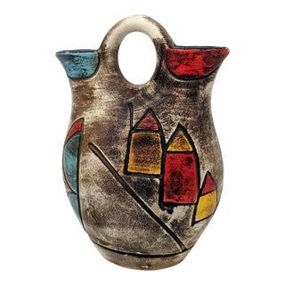 Vintage Abstract Ceramic Vase For Sale