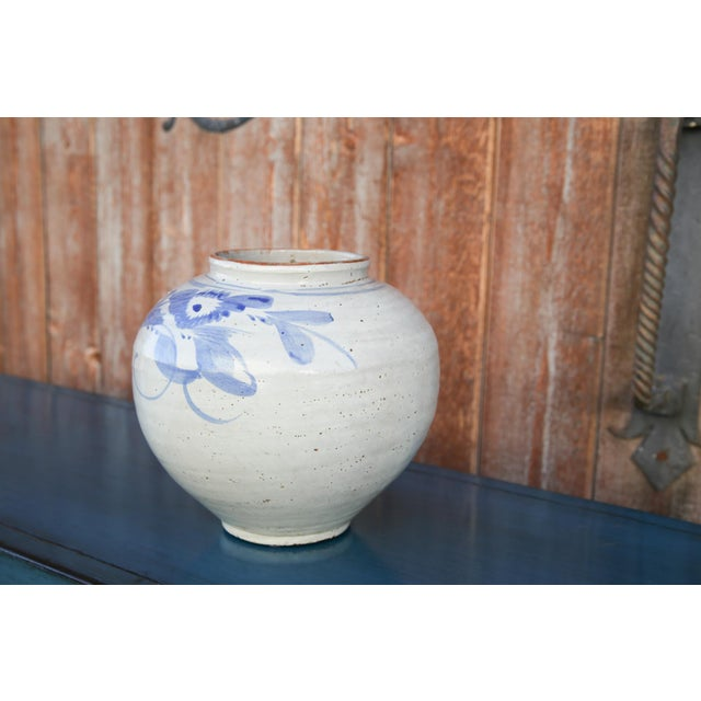 Blue and White Asian Glazed Pot For Sale In Los Angeles - Image 6 of 8