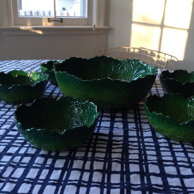 Plastic Vintage Lettuce Salad and Serving Bowls For Sale - Image 7 of 7