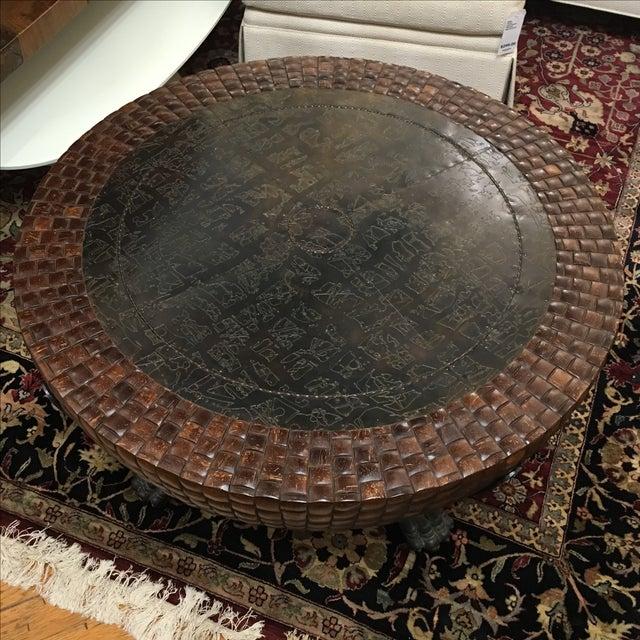Modern Kreiss Nairobi Drum Coffee Table For Sale - Image 3 of 10