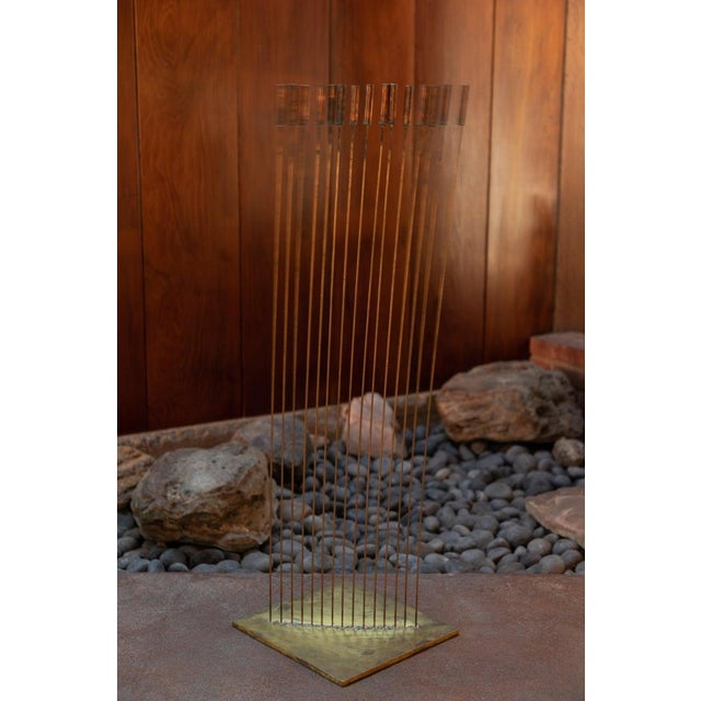 "Large Val Bertoia 15-Rod ""Curve of Sounding Cat Tails"" Sculpture, 2016 For Sale - Image 12 of 13"