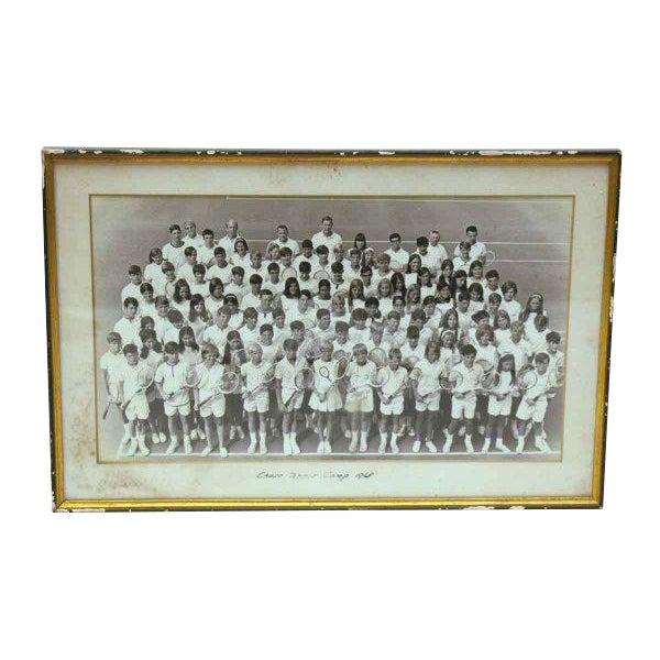 1968 Vintage Tennis Camp Photo For Sale