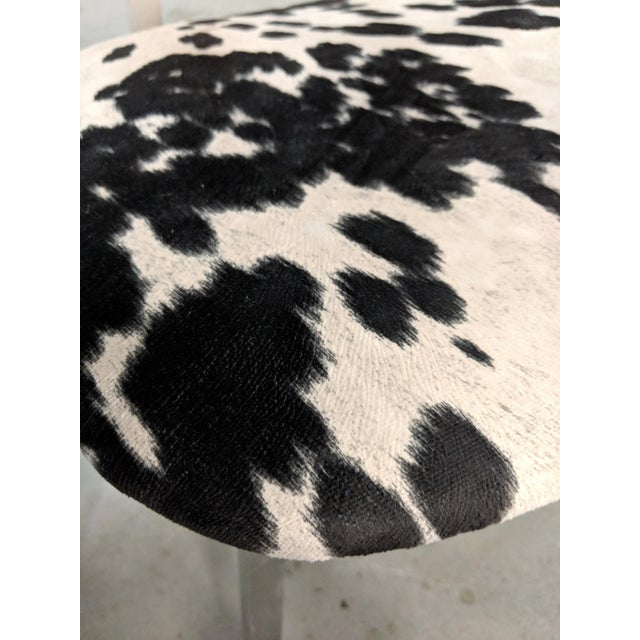 Black Mid Century Modern Shaw Walker Faux Cowhide & Aluminum Chair For Sale - Image 8 of 11