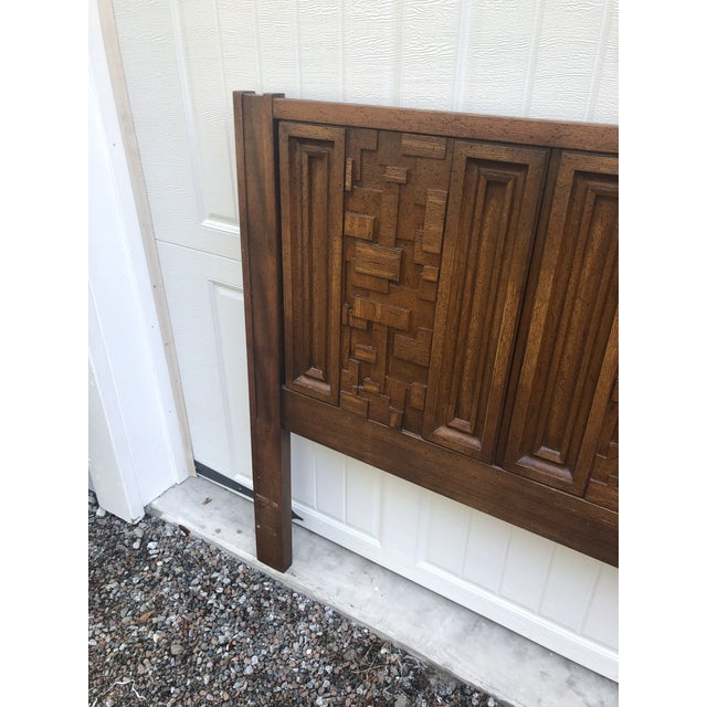 1970s 1970s Brutalist King Sized Headboard For Sale - Image 5 of 8