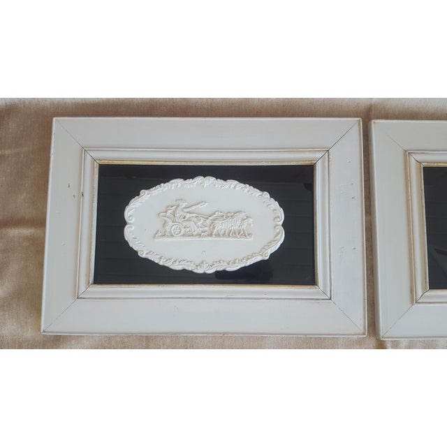 Vintage Neoclassical Framed Intaglios - a Pair For Sale - Image 11 of 13