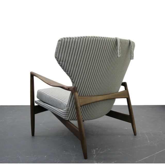 Mid Century Danish Wingback Lounge Chair by IB Kofod-Larsen - Image 5 of 9