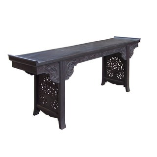 Rosewood Dragon Carving Altar Console For Sale