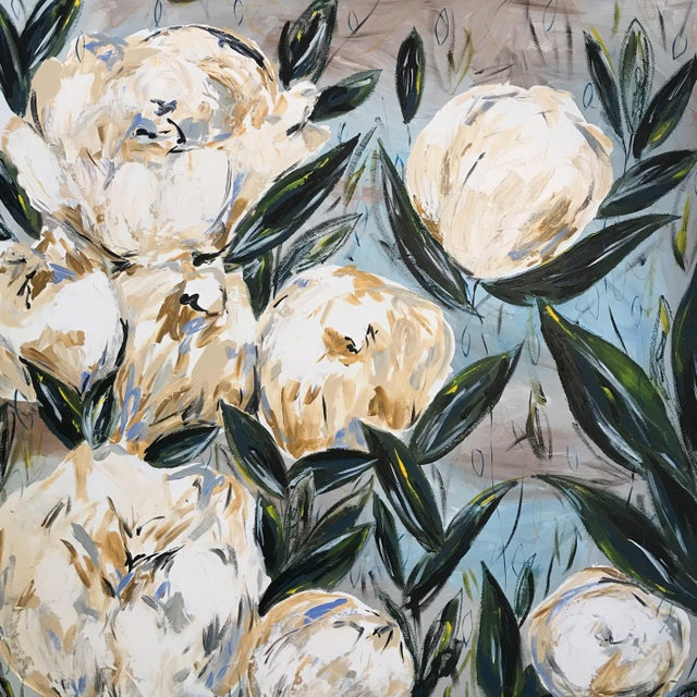 """Peonies for Carolina"" Original Painting - Image 2 of 3"
