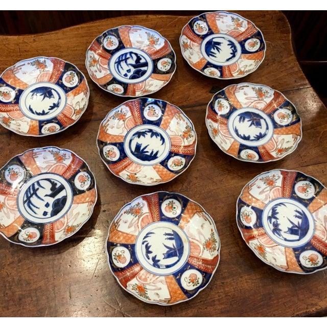 Japanese Imari Porcelain Dishes - Set of 8 - Image 4 of 4