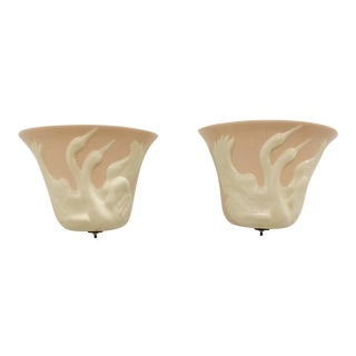 Markel Swan Sconces - A Pair For Sale