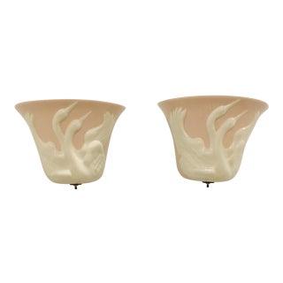 Markel Swan Sconces - A Pair For Sale