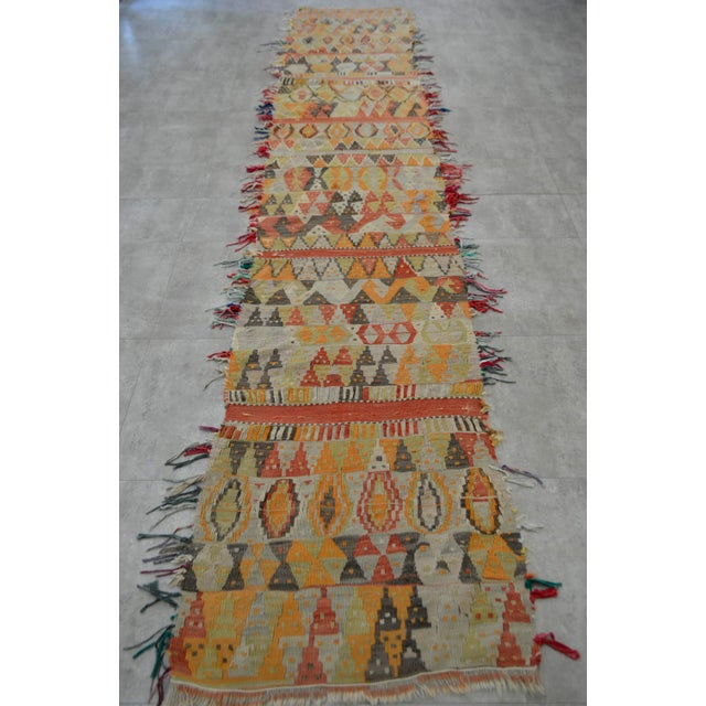 Antique Handmade Turkish Tribal Runner - 2′6″ X 13′2″ For Sale - Image 5 of 10