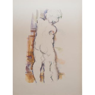 1959 Plaster Figure of Cupid Lithograph Print by Paul Cezanne
