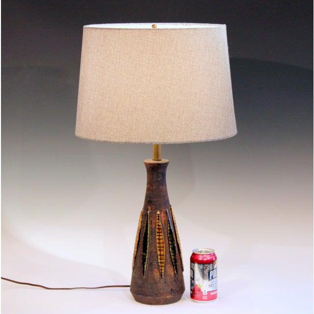 Ceramic Bitossi Pottery Londi Vase Italian Raymor Ceramic 1960s Lamp For Sale - Image 7 of 8