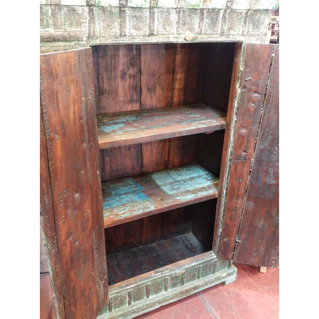 Colonial Metal Work Storage Cabinet - Image 5 of 6