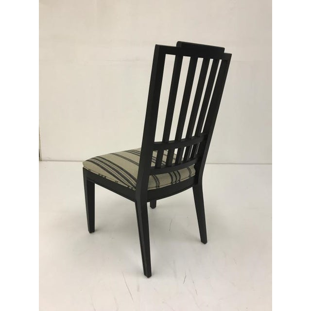 Transitional Century Furniture Casa Bella Slat Back Dining Side Chair For Sale - Image 3 of 4