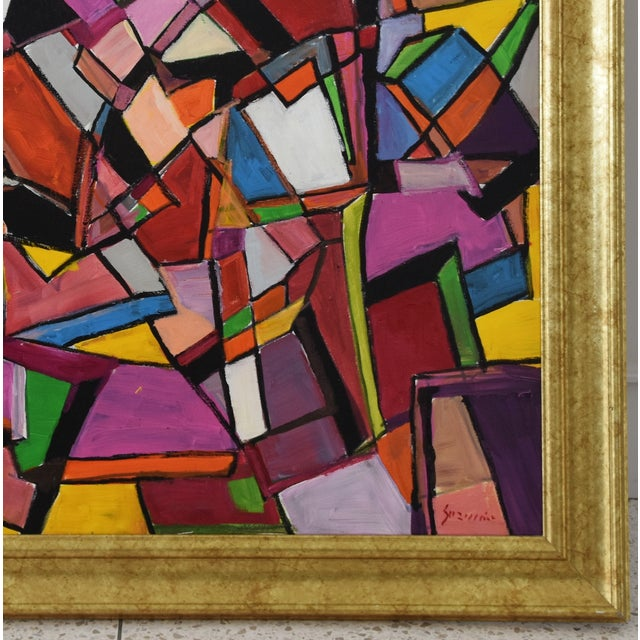 Abstract Juan Guzman Original Colorful Abstract Painting For Sale - Image 3 of 10