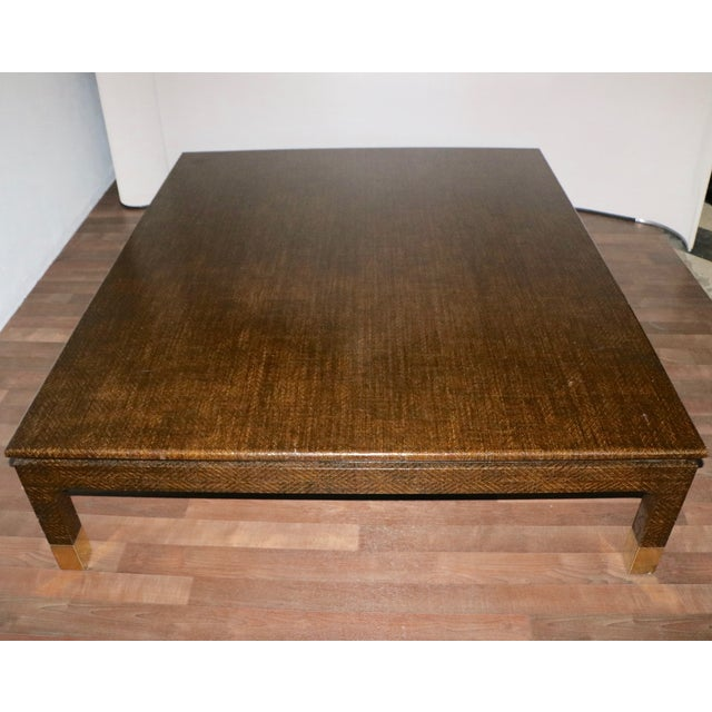 Raffia Covered Coffee Table by Harrison Van Horn For Sale - Image 10 of 11