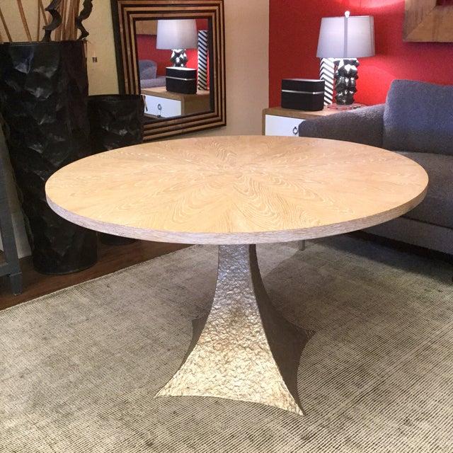 Cerused Oak Round Pedestal Table - Image 7 of 7