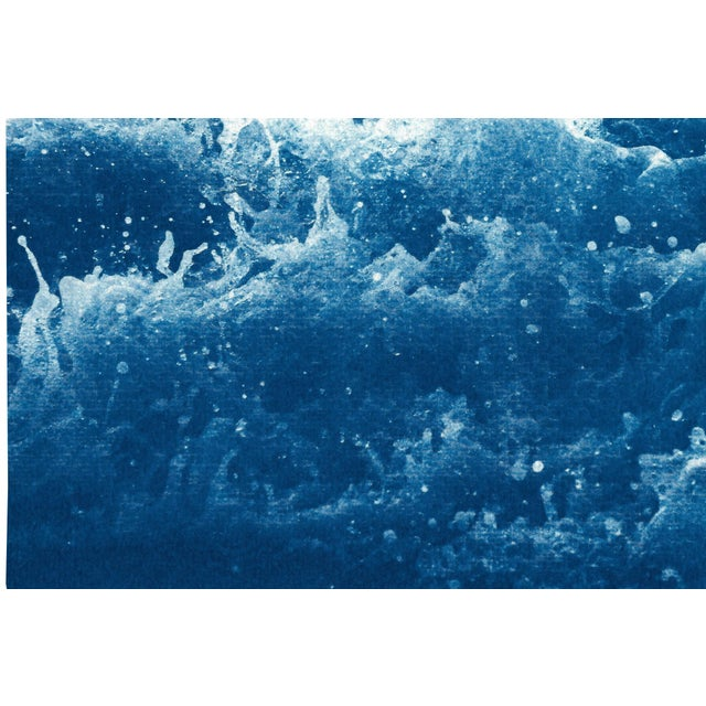 2020s 2020 Abstract Crashing Water, Large Seascape Cyanotype Print on Paper For Sale - Image 5 of 12