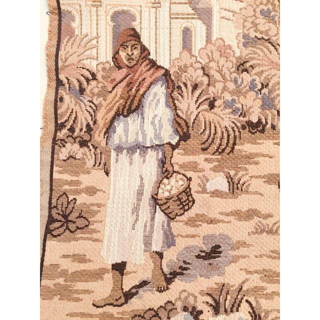 Large 19th Century Orientalist Scene and Moorish Architecture Tapestry For Sale - Image 10 of 12