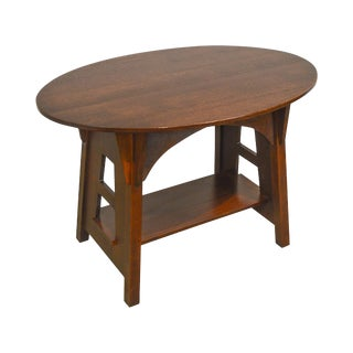 Stickley Limbert Oak Cut Out Oval Mission/Arts & Crafts Table