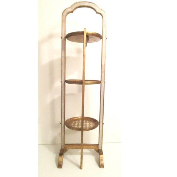 1950s Italian 3-Tier Giltwood Table For Sale - Image 4 of 7