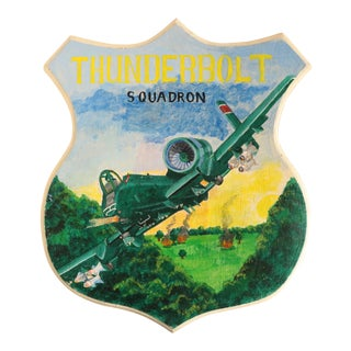 Thunderbolt Squadron Military Aircraft Plaque For Sale
