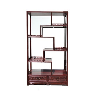 Oriental Rosewood Display Curio Cabinet Divider For Sale