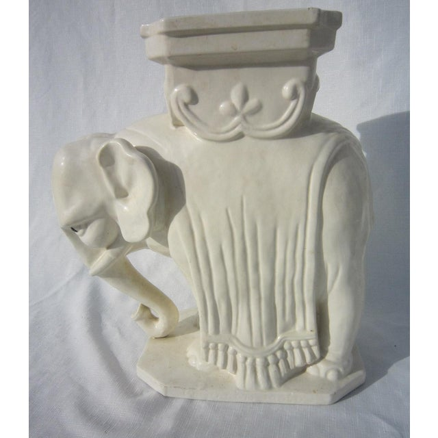 Ceramic Elephant Garden Stool - Image 3 of 6