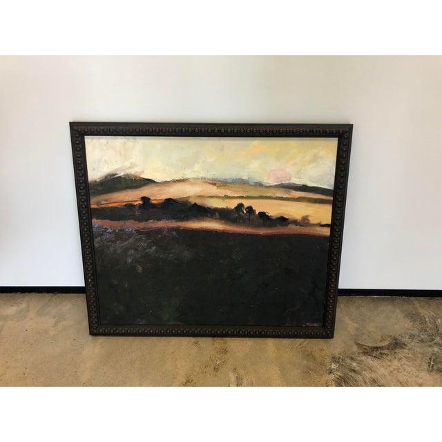Black Framed Landscape Painting For Sale - Image 4 of 4